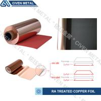 Quality TREATED RA COPPER FOIL/THICKNESS:12/18/25/35/50UM/COLOR:RED AND BLACK for sale
