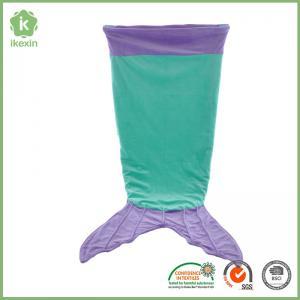Quality Light Blue Lovely Kids Gift Crystal Velvet Mermaid tail Blanket for sale