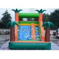 Residential En71 Inflatable Pool Water Slide Green Jungle