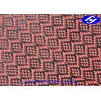 China Mjacquard Sudoku Pattern Red Carbon Fiber Fabric With Low Flammability on sale