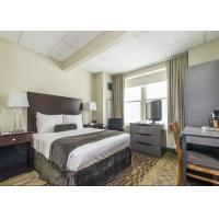 Quality Modern Grey Hotel Bedroom Furniture Sets Solid Wood Comfortable Environment - Friendly for sale