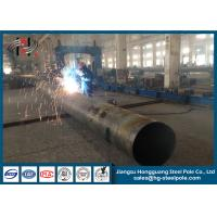 Quality Q235 Polygonal Galvanized Steel Tubular Poles for Overhead Line Project for sale