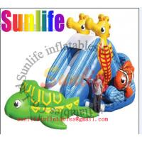 Quality EN14960 Commercial Outdoor Inflatable Water Slide For Playground for sale