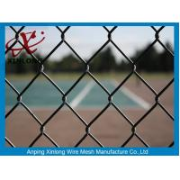 Quality Green PVC Coated Chain Link Fence 50*50mm Fence Screen for Tennis Court for sale
