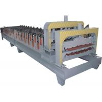 Quality Galvanized Steel Double Layer Roll Forming Machine With HRC50 - 60 Heat Treatment for sale