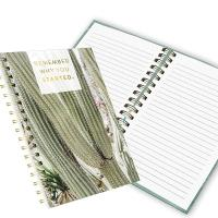 Quality Fashion OEM double spiral notebook 100 sheets with yellow paper for sale