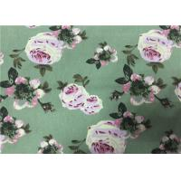 China Floral Printing Cotton Drill Fabric , Cotton Floral Fabric  For Women Dress on sale