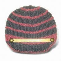 Quality Fashionable Style Knitted Women Hat, Made of 30% Wool and 70% Acrylic, Handmade for sale