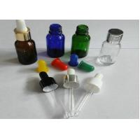 Quality Chemical 30ml / 50ml Plastic Amber Glass Bottle Dropper for sale