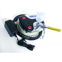 China Mobile Gravity Feed Airbrush Tanning Kit Machine with Oil Free Compressor and Gun 30PSI on sale