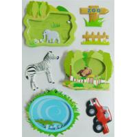 Decor Reusable 3D Puffy Inside Shaker Sticker Zoo stlye handcrafts for sale