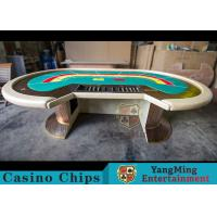 Quality Waterproof Casino Poker Table / Professional Poker Table With Leather Handrails for sale