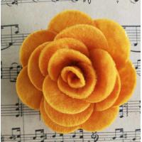 Quality Lovely Felt Fabric Craft Flowers Gorgeous Thanksgiving Festival Use for sale