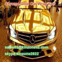 Quality Gold Chrome Mirror Vinyl Film Wrap for sale
