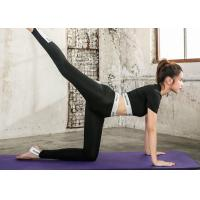 Summer Sexy Fashion Yoga Sportswear Suits Quick Dry Black / White Color For Gym