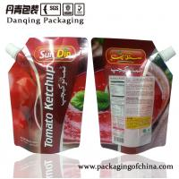 Quality Plastic Sauce Stand Up Pouch With Spout   Stand Up Pouches For Food Packaging for sale
