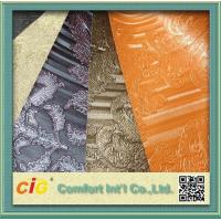 China Waterproolf Metallic PVC Artificial Leather Fabric Material For Bags Upholstery / Car Seat on sale