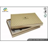 Quality Folding Cardboard Gift Boxes Charming Silver Printing / Decorative Paper Boxes for sale