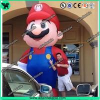Quality Event Advertising 5m Giant Inflatable Mario Cartoon Inflatable Mario Mascot for sale