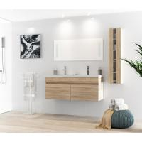 White Table Modern Style 120 Inch Bathroom Vanity For Small Bathrooms