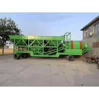 Quality 50m3 / H Mobile Concrete Mixing Plant For Road Maintenance 3.8m Discharge Height for sale