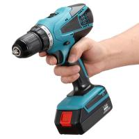 Quality Reversible Cordless Battery Drill , 13mm Keyless Chuck Handheld Power Tools for sale