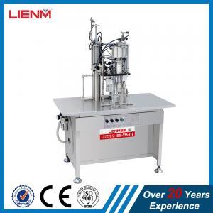 Quality High Efficiency Semi Automatic Aerosol Production Line/Automatic Aerosol Filling & Sealing Machine body spray filling for sale