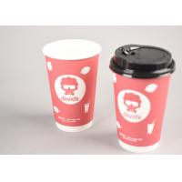 Disposable Paper Tea Cups For Cafe Shop / Insulated Coffee Cups With Lids