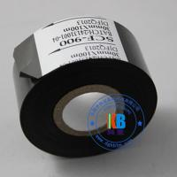 China Paper PVC PET plastic abs label date printing scf900  fc3  lc1black hot coding foil ribbon 25mm*100m on sale
