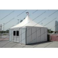 China Temporary High Peak Tents Glass Door , Outdoor Hajj Tents As Catering / Stay Place on sale