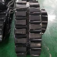 Buy cheap 86 Links Excavator Rubber Tracks , Less Vibration Kubota Replacement Tracks from wholesalers