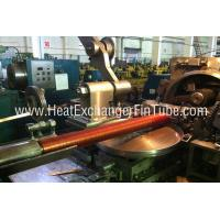 Buy Helicoidal Groove Cooling Embedded Fin Tube Machine , G Type Alu & Copper at wholesale prices