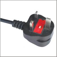 China UK flexible cord BS approved power cord with moulded fused plug on sale