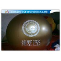China Green PVC Promotional Inflatable Helium Balloons With Logo Printing on sale
