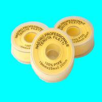 China Yellwo PTFE Tape Gas use , PTFE Thread Seal Tape 19mmx 0.2mm x25m Gas use on sale