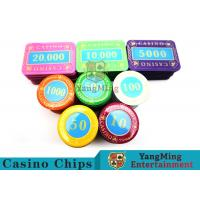 Quality Casino Crystal Personalized Poker Chips Set With Multi - Color Can Be Choosed for sale