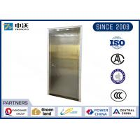 Quality Flexible Single Stainless Steel Fire Rated Doors With High Strength Glass for sale