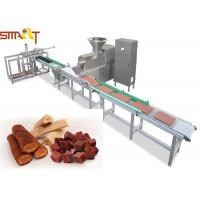 Quality Stainless Steel Auto Meat Strip Traying System Cold Extrusion Pet Treat Line for sale