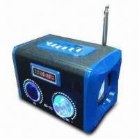 Quality Multimedia Speaker with FM function Made of Wooden Material, 5.0V Input Voltage for sale