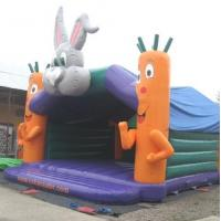 Quality Rabit Head Kids Large Bouncy Castle Funny 7.7m x 7.2m x 5.96m for sale