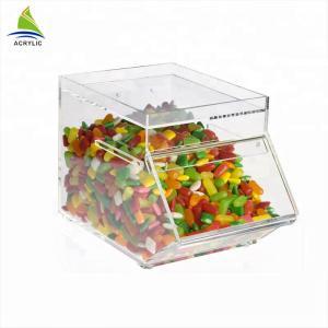 China Promotional Acrylic Candy Display Custom Acrylic Candy Box Environmentally Friendly on sale