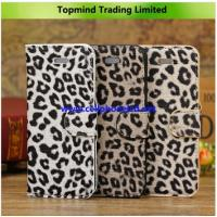 China Topmind Leopard Print Leather Case for Apple iPhone 5C on sale