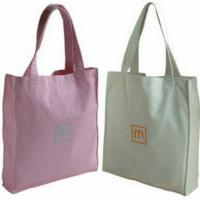 Quality Colorful Promotional 100% Cotton Carrier Bags / Washable Reusable Eco Shopping Bags for sale