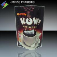 Quality Resealable 50g Stand up Pouches, Three Side Seal Bags For Coffee Packaging for sale