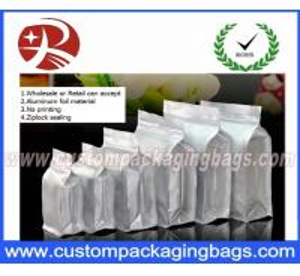 China Flat Bottom Ziplock Aluminum Foil Bags For Coffee Bean / Heat Seal Foil Bags on sale