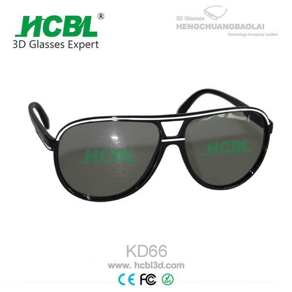 big frame circular polarized 3d glasses for 3d lcd