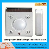 Quality Solar power vibration magnetic contact alarm with rechargeable Li-Ion backup batter for sale