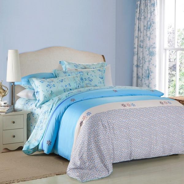 4 Piece Navy Blue Bedding Sets , 100 Percentage Cotton ... - photo#38