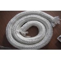 Quality White Glass Fiber Stove Rope Seal , 200℃ - 250℃ Refractoriness for sale