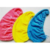 Quality Microfiber Coral Fleece Hair Drying Towel Turban , Light Weight Bath Towels for sale